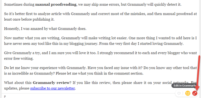 Grammarly Review        Easily Correct Grammar Errors in Articles