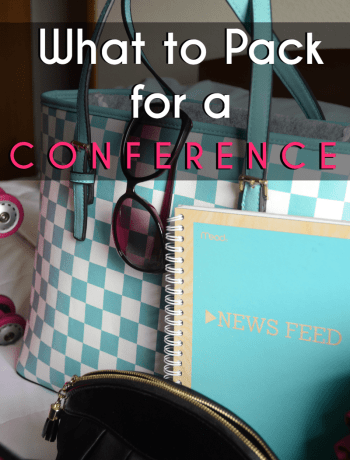 Check out tips on what to pack for a conference. As someone who often travels for business, I'm sharing my list. Number 5 is a favorite.