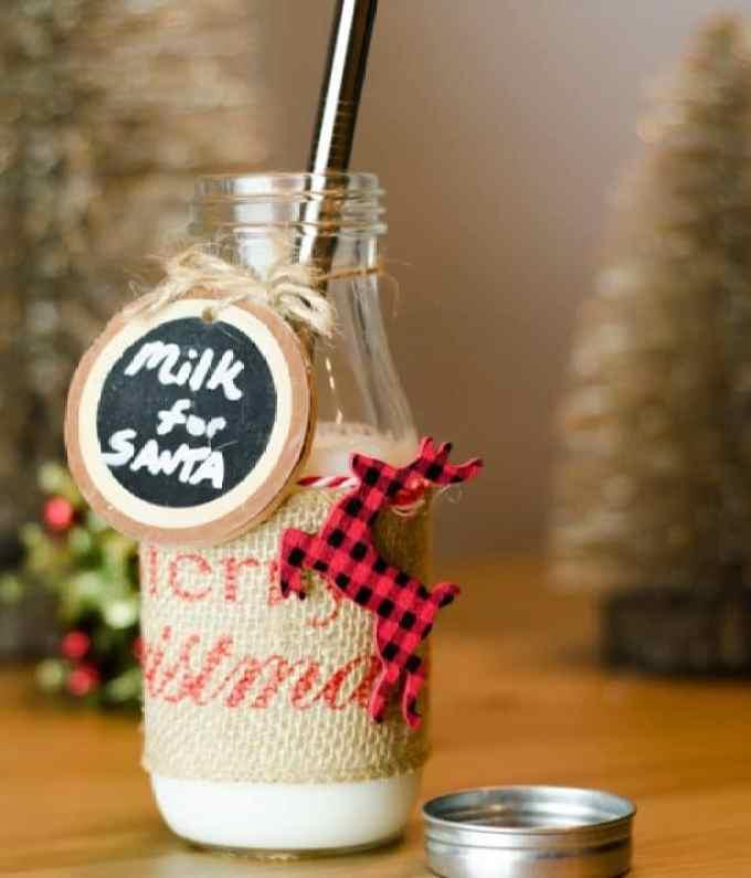 DIY Santa Milk Jug