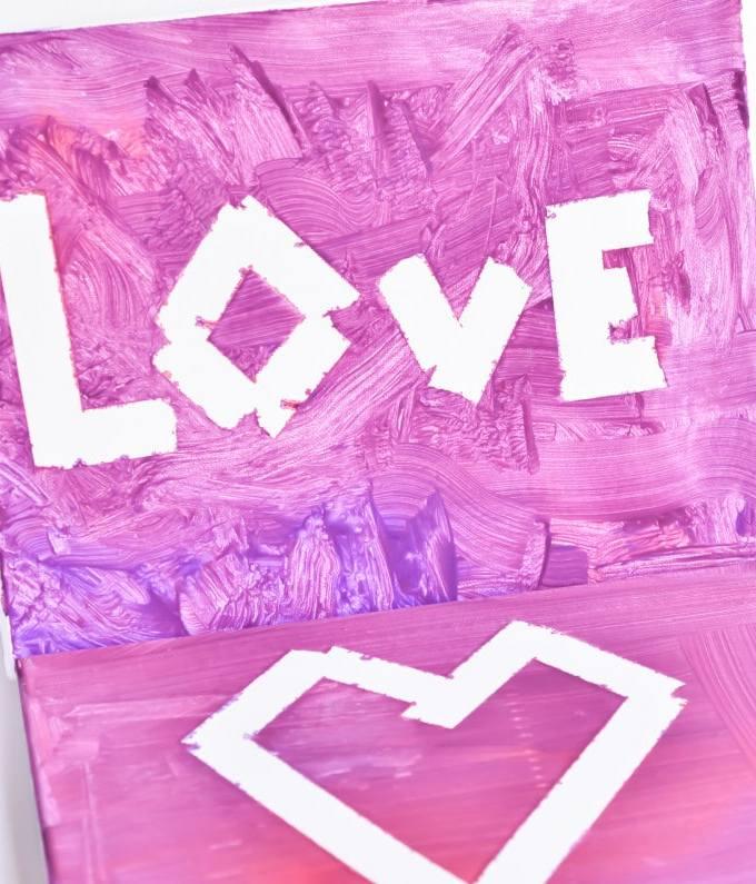 DIY Valentine's Day Kid's Canvas Art