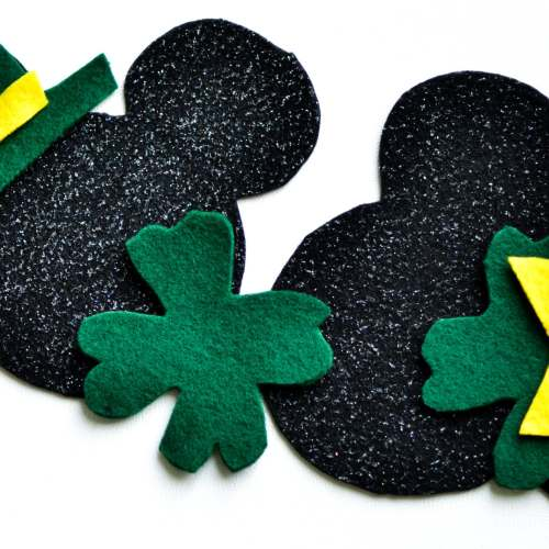 St. Patrick's Day Felt Craft Featuring Mickey and Minnie Mouse