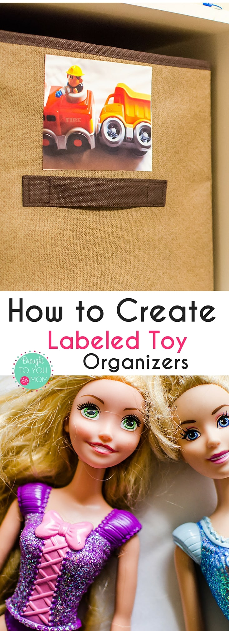 Need ideas of how to help kids pick up their toys? Check out how to create labeled toy organizers with these easy steps.