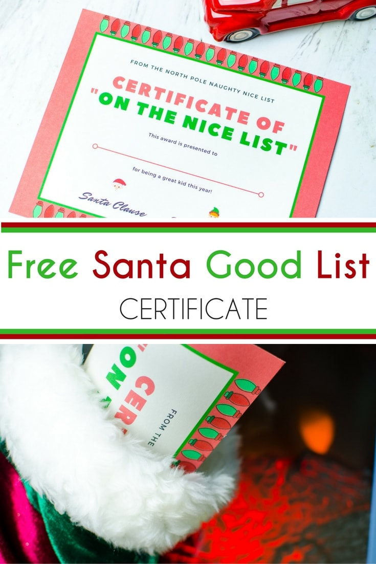 Free santa good list certificate brought to you by mom this free santa good list certificate is perfect for your elf on the shelf stocking xflitez Gallery