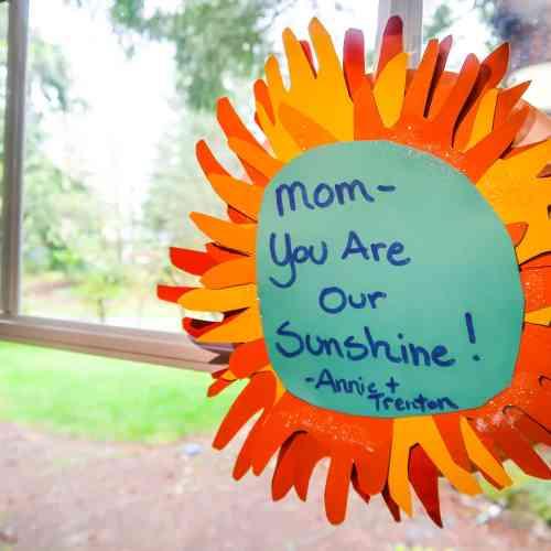 Handprint Mother's Day Craft