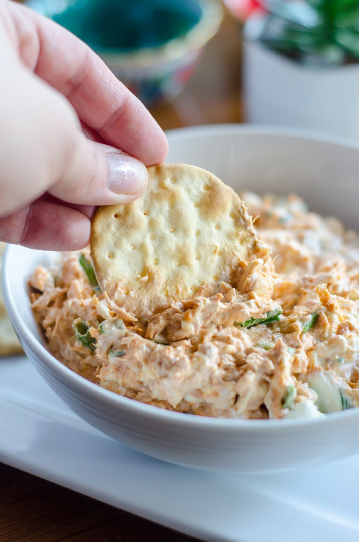 Dipping into an easy tuna dip recipe filled with spicy heat and zing. (sponsored)
