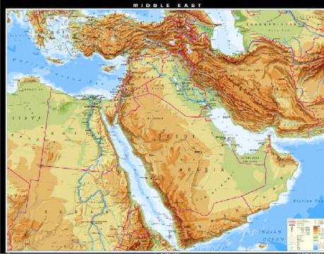 Assignment 1  Curious maps of the Middle East vanessa  I like this map for many reasons  Firstly  I like the  topigraphical aspect of the map and what is reveals about the area
