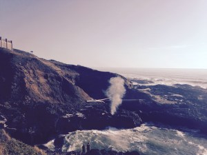 Salt water flume at Cape Perpetua, OR