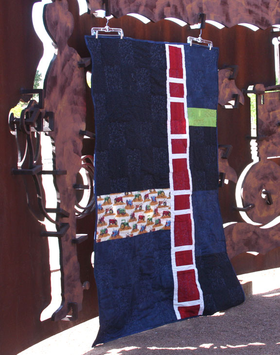 Tractor Quilt #3 back