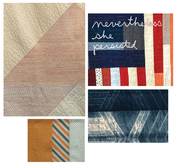 QuiltCon trends- images with the Big Stitch