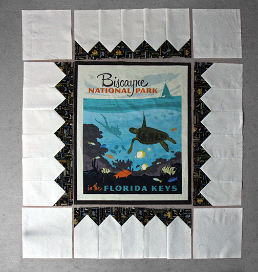 Collector of Stamps Quilt Tutorial - putting it together