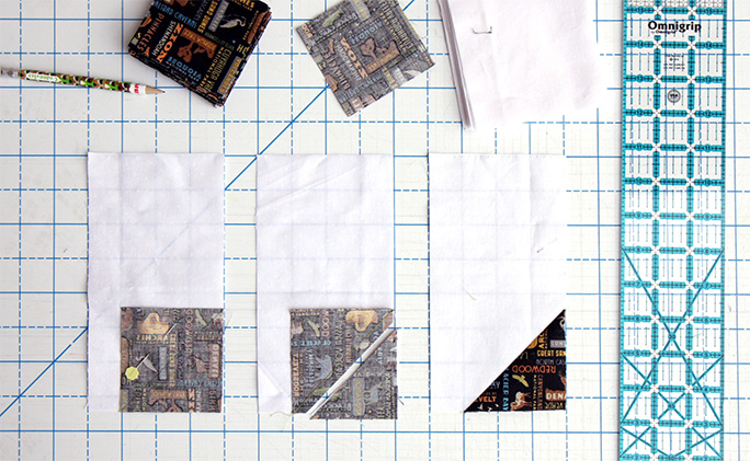Collector of Stamps Quilt Tutorial - Step 2