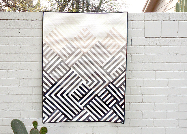 Interwoven Quilt using Shades Fabric