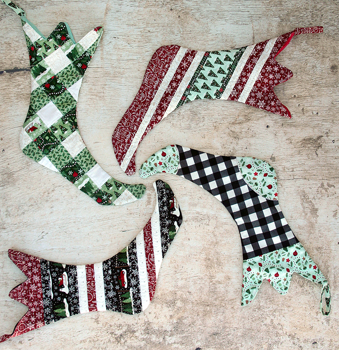 Toe Christmas Stocking Pattern has five styles to choose from.