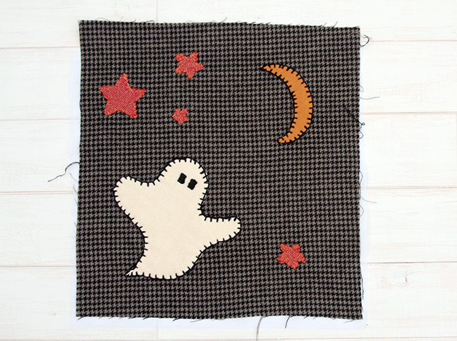 Sugar and Spice Halloween Table Runner - Ghost Block