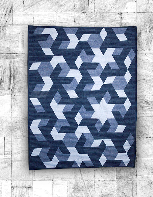 Stars in Pieces quilt using Chambray fabric