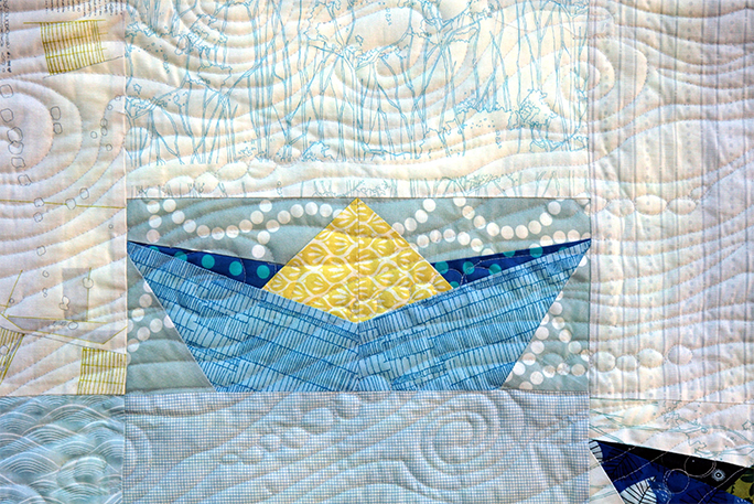 Paper Boat Quilt a paper pieced block