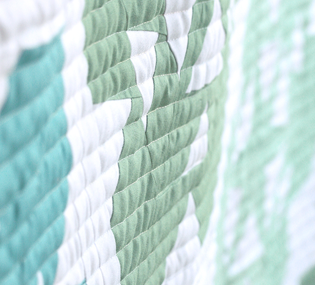 Quilted lines with Hobbs Heirloom Wool Batting