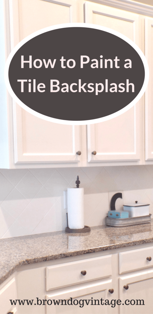 painting tile backsplash