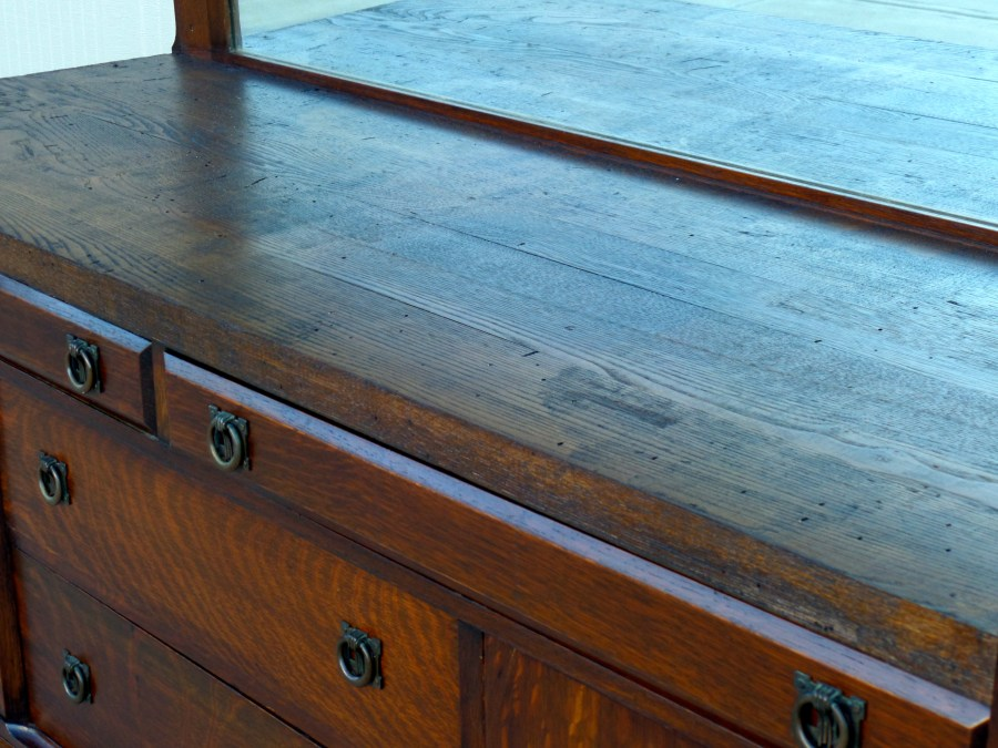 Antique Mission Style Buffet
