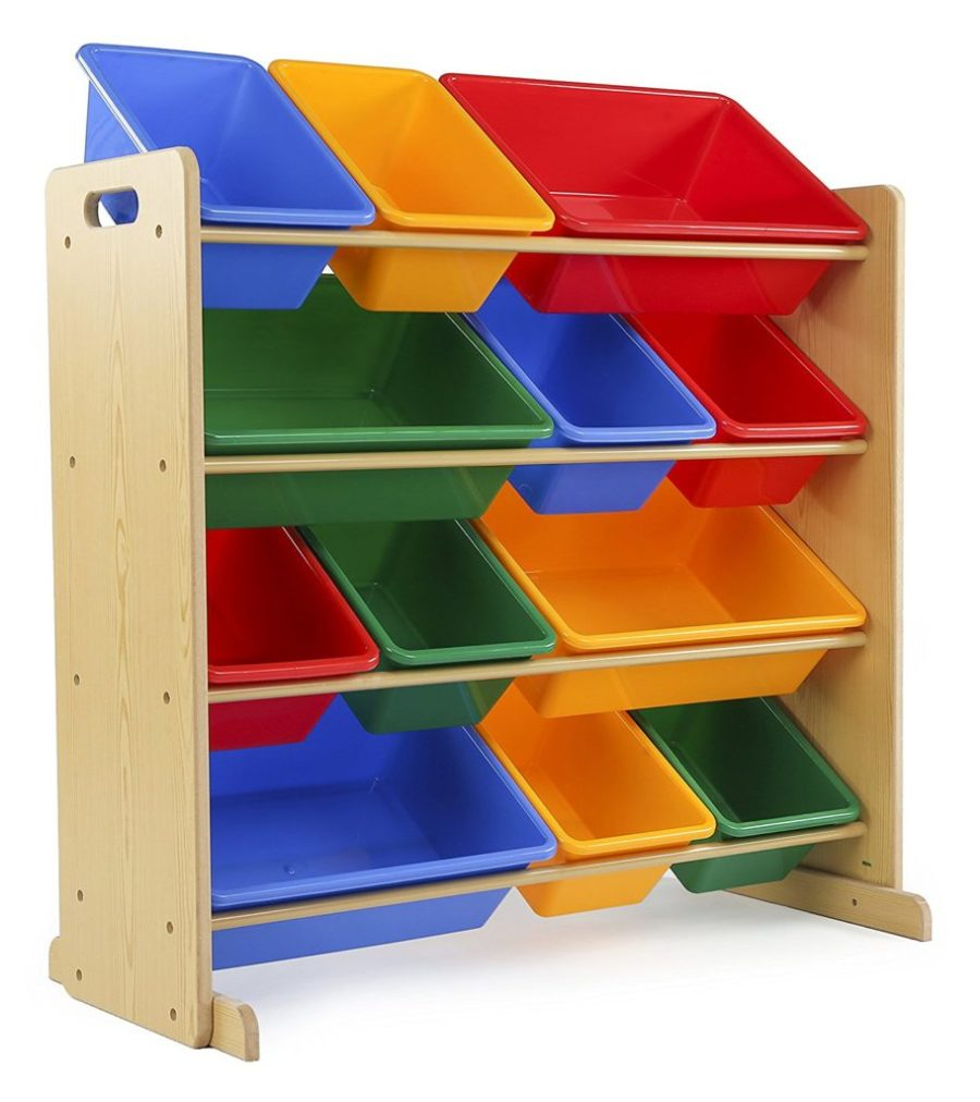cut the clutter organize the toys with bins