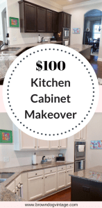 thrifty diy kitchen cabinet makeover painting cabinets