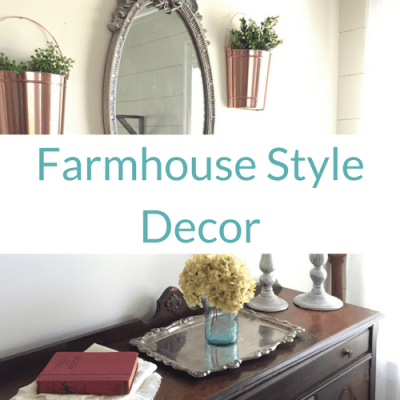 Farmhouse Style Decor from Yard Sale Finds!
