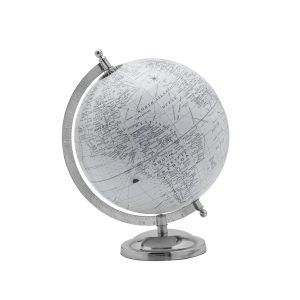 Silver globe mixed metals gift guide