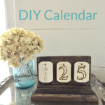 DIY Calendar with vintage style