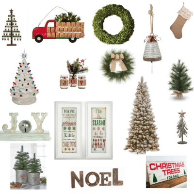 Farmhouse and Vintage Inspired Christmas Decor