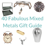 mixed metals home decor gift guide