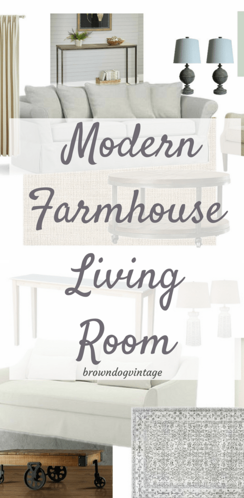 Modern Farmhouse Living Room Mood Boards