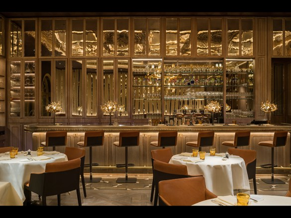 Counter dining at The Grill at The Dorchester