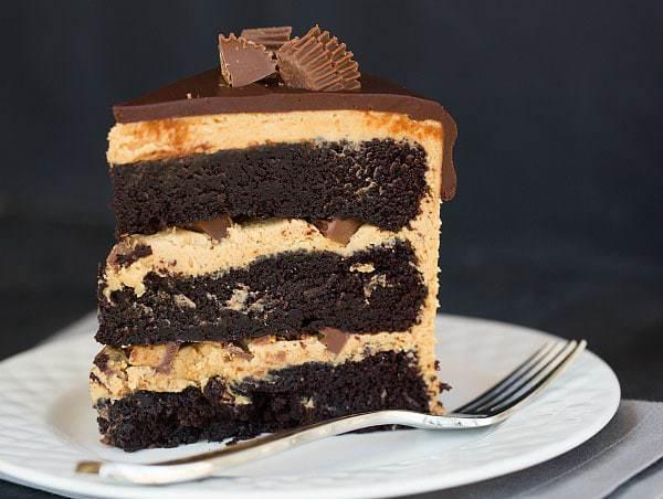 Top 10 List: Favorite Cake Recipes >> Peanut Butter Cup Overload Cake | browneyedbaker.com