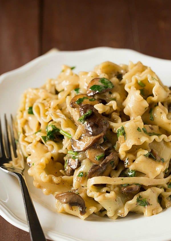 Creamy Mushroom-Fontina Pasta