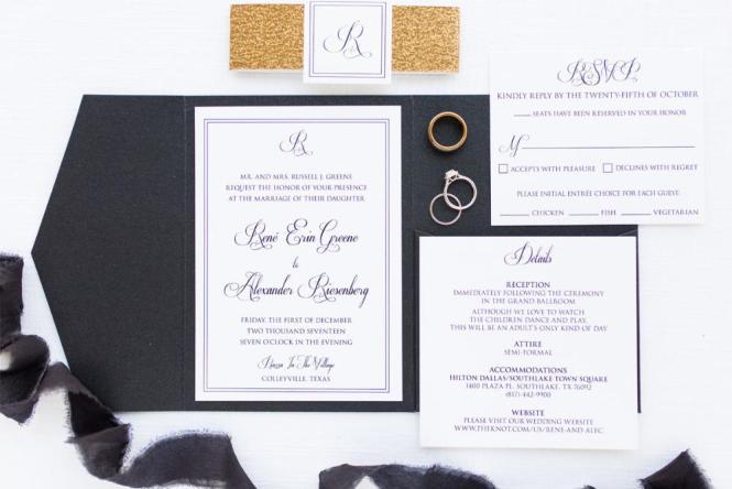 Custom Pocket Wedding Invitations