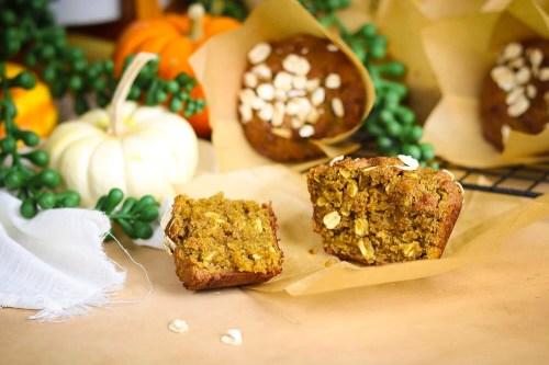 Pumpkin Season Special: Pumpkin Brown Sugar Oat Muffins