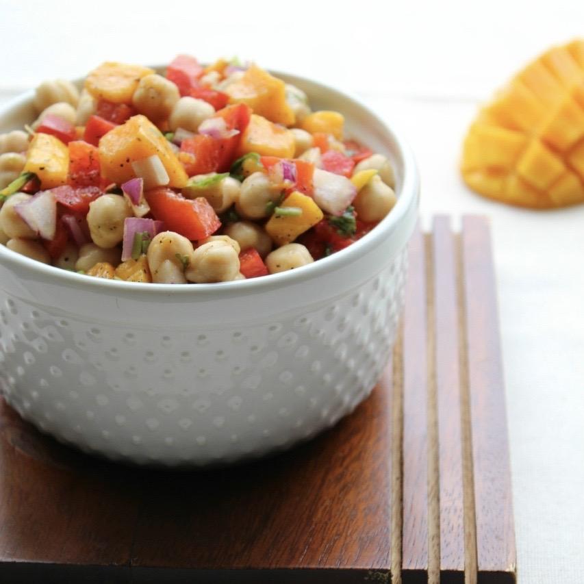 Mango Chickpea Salad