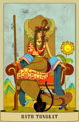 Tarot Nusantara - Queen of Wands