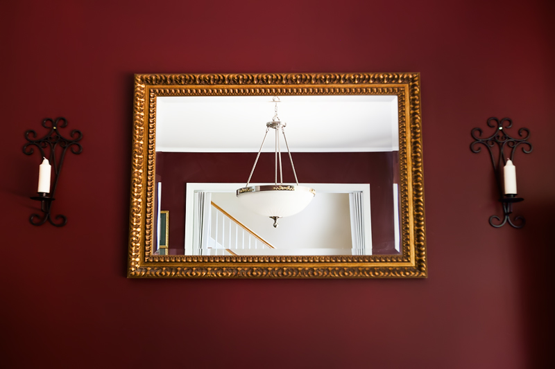 How To Decorate Old Mirror Frame