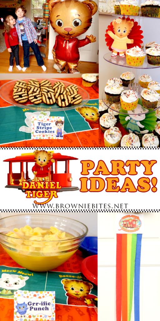 Daniel Tiger Birthday Party Ideas Brownie Bites Blog