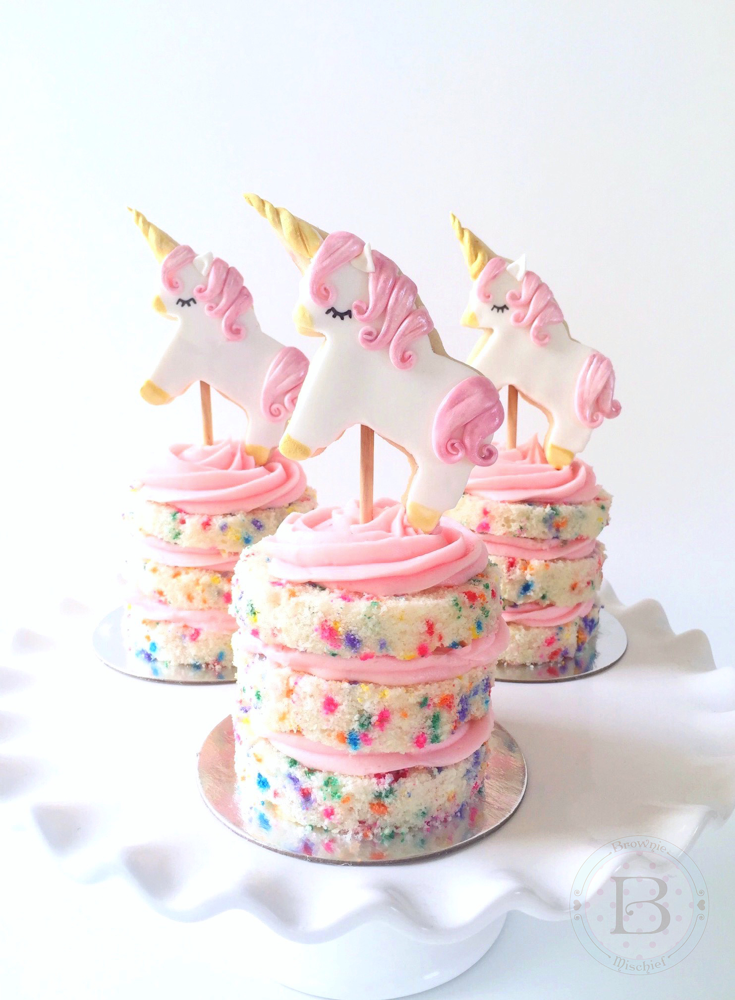 Unicorn Cookie Cake Toppers Brownie Mischief