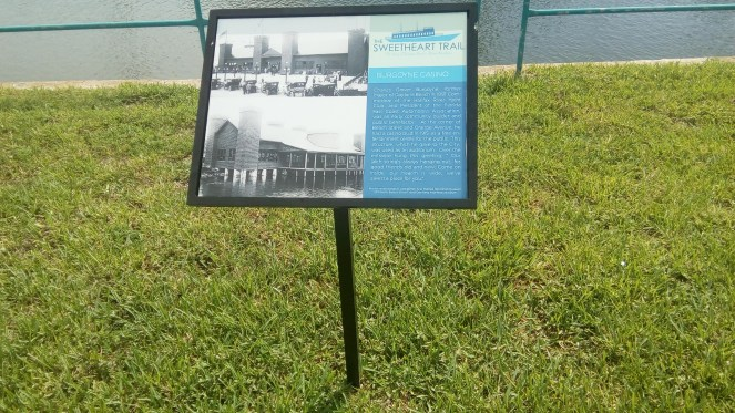 Historical signage along Sweetheart Trail in Daytona Beach, FL