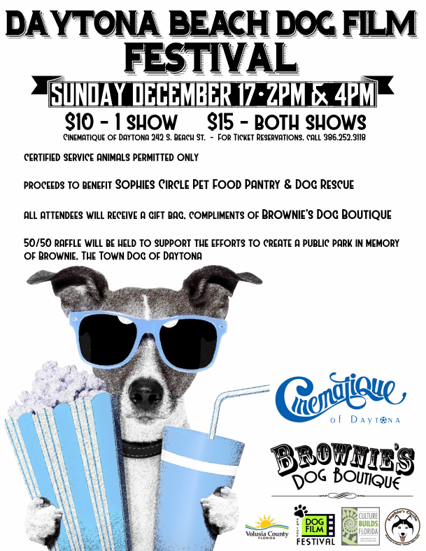 Daytona Beach Dog Film Festival is Dec 17