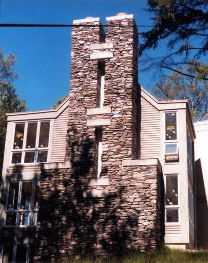 Dual Stone Chimney