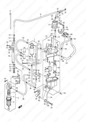 Fig 13A  Fuel PumpFuel Vapor Separator  Suzuki DF 225 Parts Listings  SN 110001 & Newer