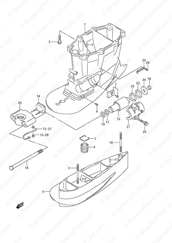 Engine Diagram Mercury 5 3 Outboard
