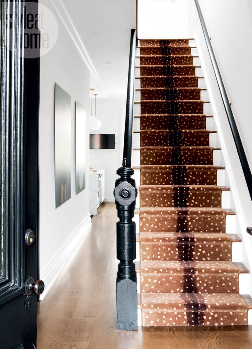 Stair Runner Ideas Brooklyn Townhouse Edition Brownstoner | Square Rug For Stair Landing | Area Rugs | Stair Treads | Handrail | Flooring | Mat