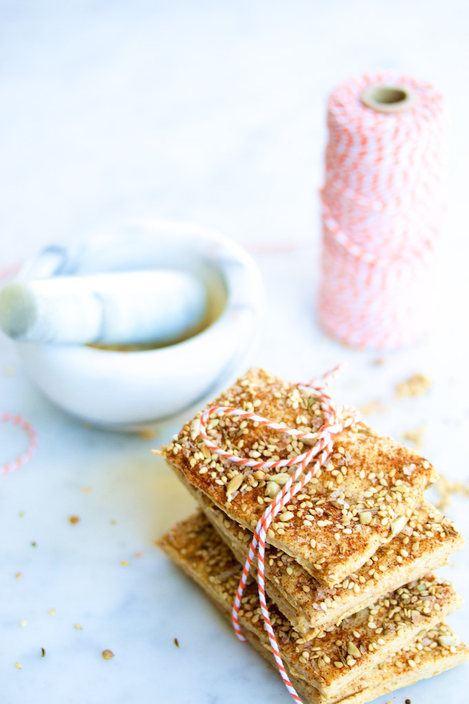 crackers made at home tied with twine