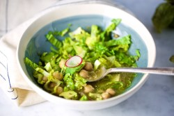 green mexican soup