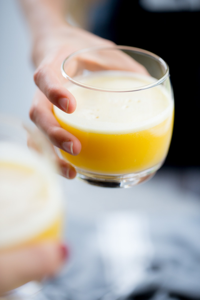 pineapple, apple, ginger juice